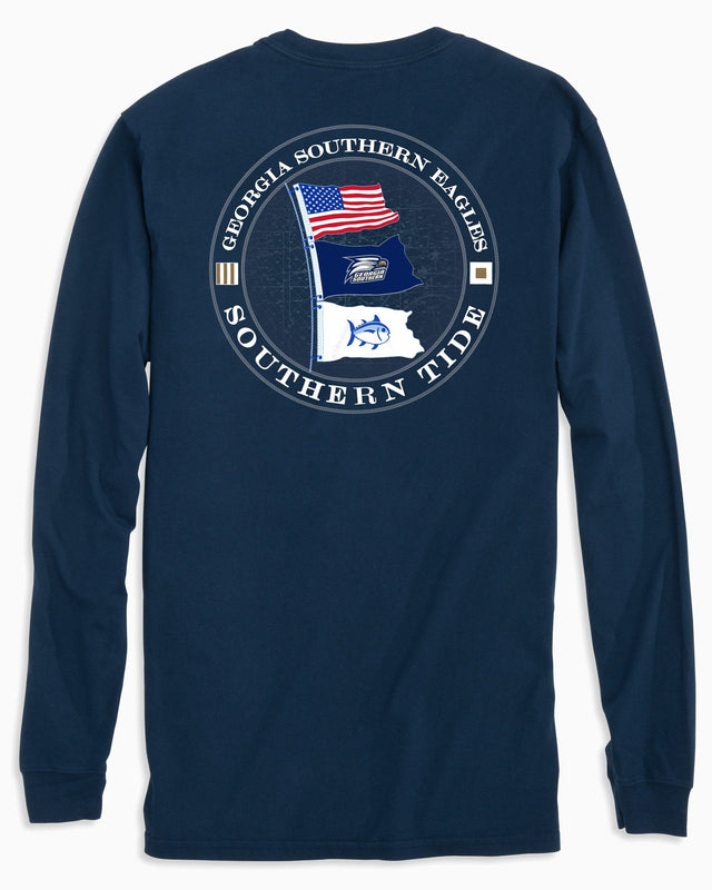 Gameday Nautical Flags Long Sleeve T-shirt - Georgia Southern University | Southern Tide