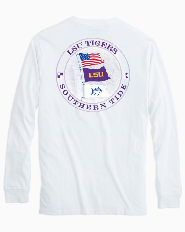 LSU Tigers Flags Long Sleeve T-Shirt | Southern Tide