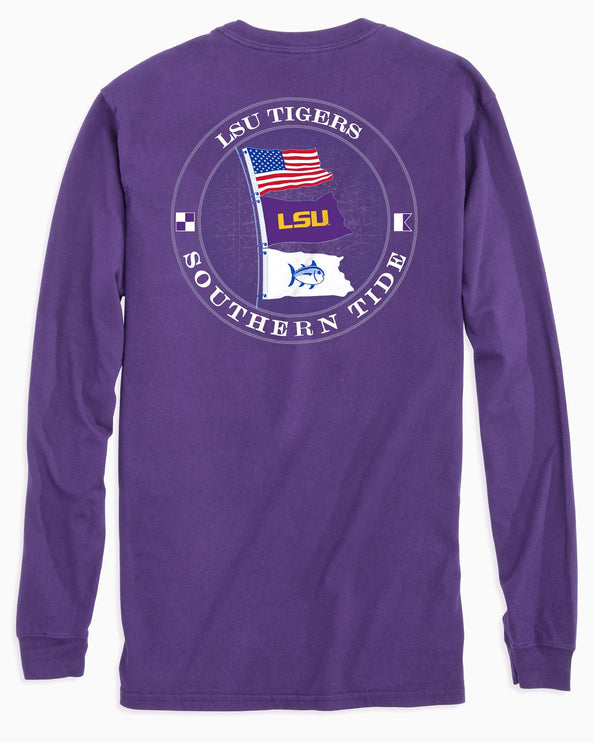 LSU Tigers Flags Long Sleeve T-Shirt