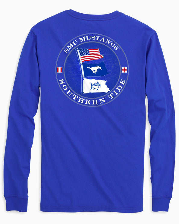 SMU Mustangs Flags Long Sleeve T-Shirt