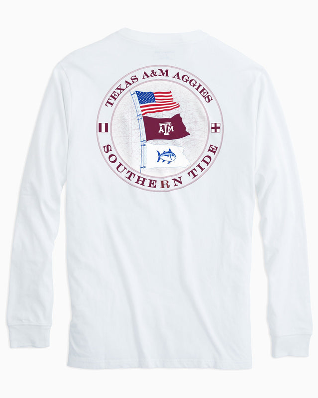 Gameday Nautical Flags Long Sleeve T-shirt - Texas A&M University | Southern Tide