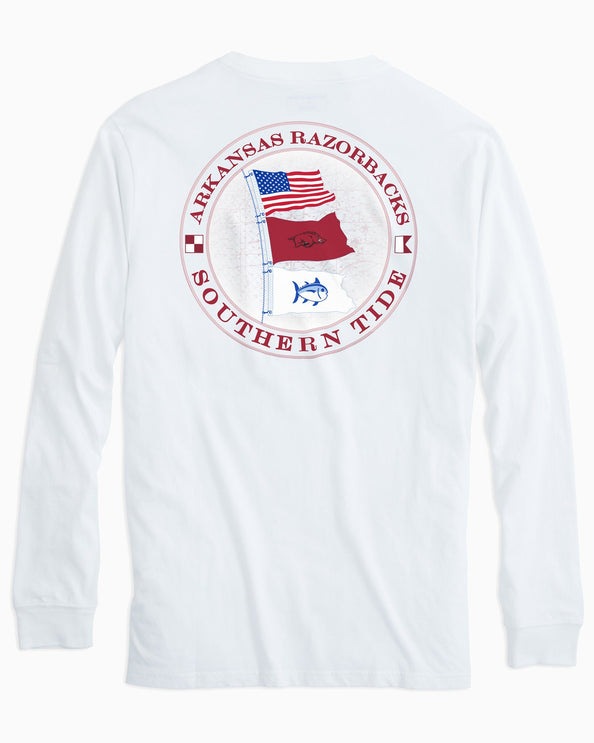 Arkansas Razorbacks Flags Long Sleeve T-Shirt