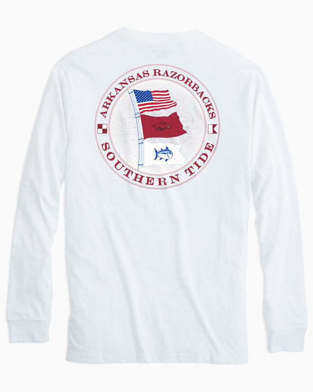 Gameday Nautical Flags Long Sleeve T-shirt - University of Arkansas | Southern Tide