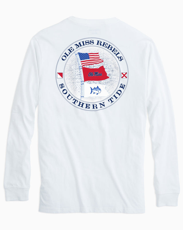 Ole Miss Rebels Flags Long Sleeve T-Shirt | Southern Tide