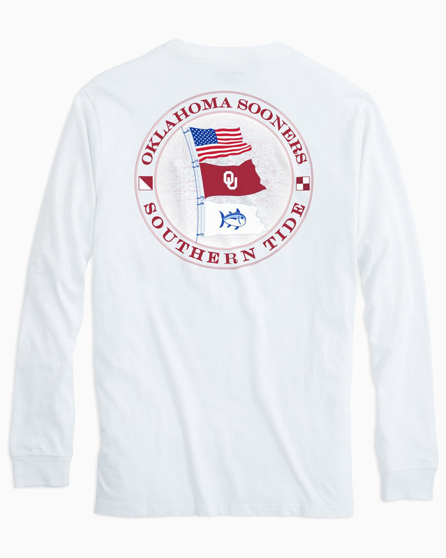 Gameday Nautical Flags Long Sleeve T-shirt - University of Oklahoma | Southern Tide