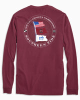 USC Gamecocks Flags Long Sleeve T-Shirt | Southern Tide