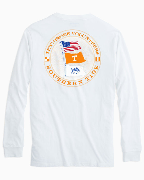Tennessee Vols Flags Long Sleeve T-Shirt