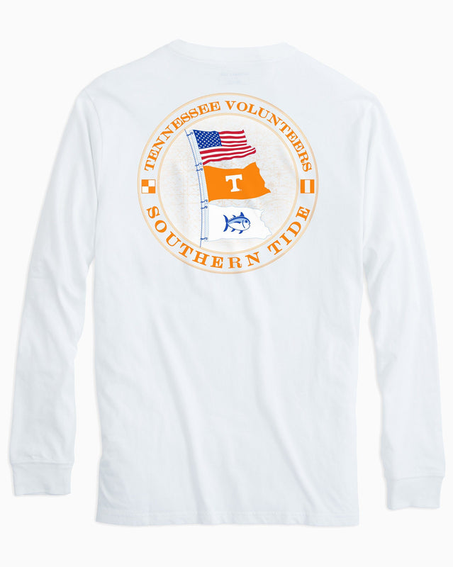 Tennessee Vols Flags Long Sleeve T-Shirt | Southern Tide