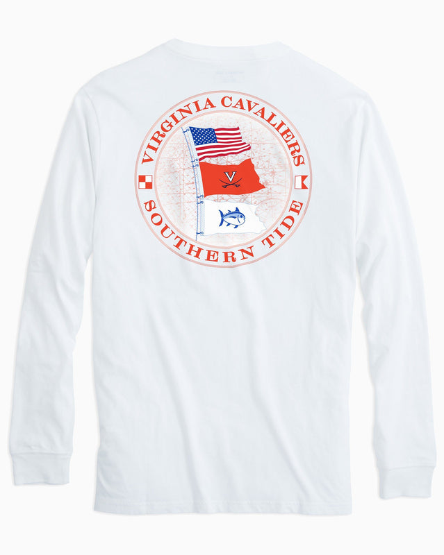 Gameday Nautical Flags Long Sleeve T-shirt - University of Virginia | Southern Tide