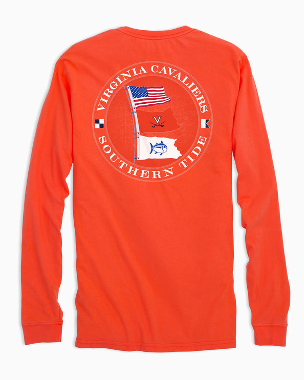 UVA Cavaliers Flags Long Sleeve T-Shirt