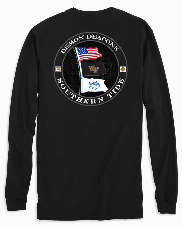 Wake Forest Flags Long Sleeve T-Shirt