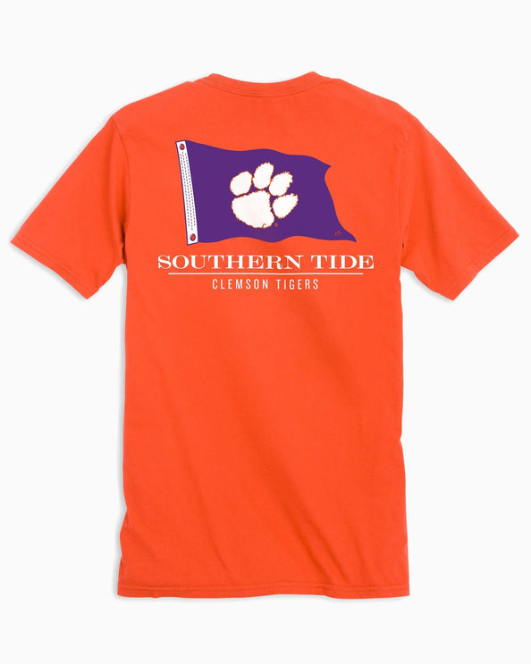Clemson Tigers Flag Short Sleeve T-Shirt