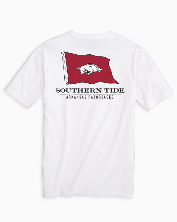 Arkansas Razorbacks Flag Short Sleeve T-Shirt