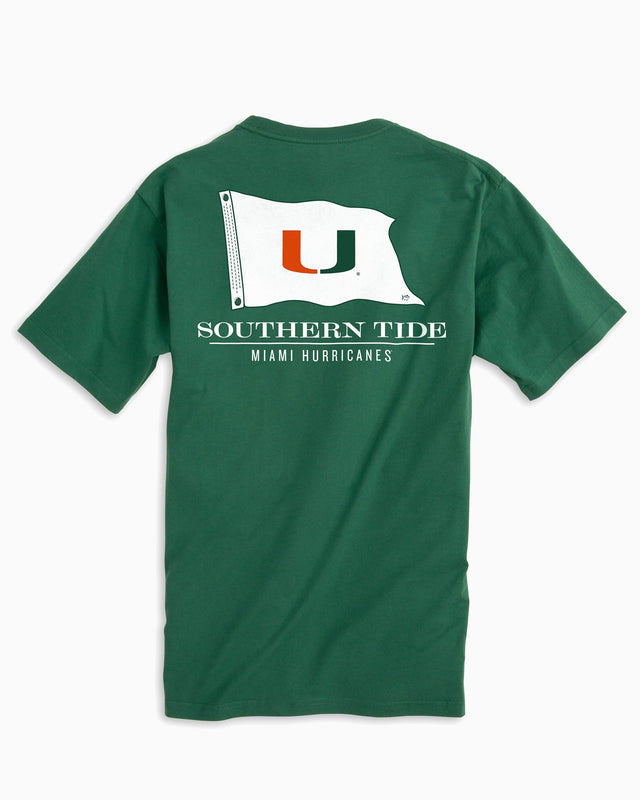 Miami Hurricanes Flag Short Sleeve T-Shirt | Southern Tide