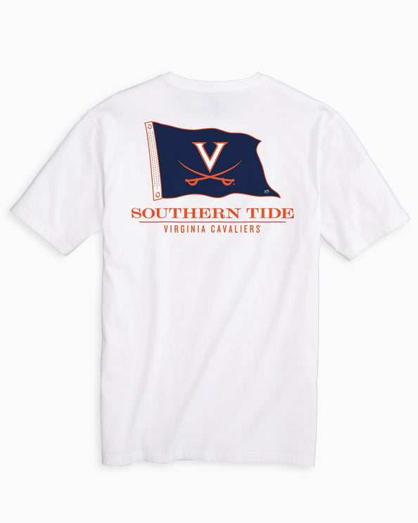 UVA Cavaliers Flag Short Sleeve T-Shirt