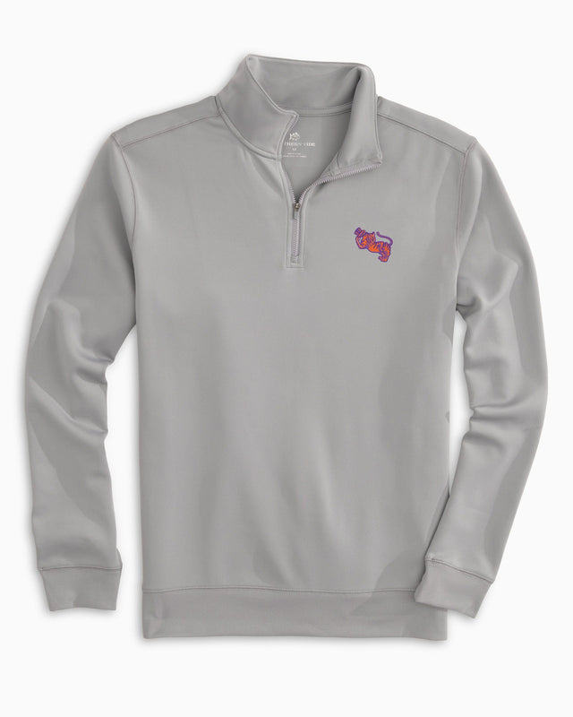 Retro Clemson Tigers Quarter Zip Pullover | Southern Tide