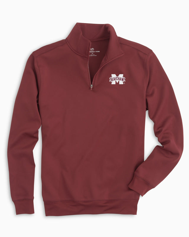 Gameday Performance 1/4 Zip Pullover - Mississippi State University | Southern Tide