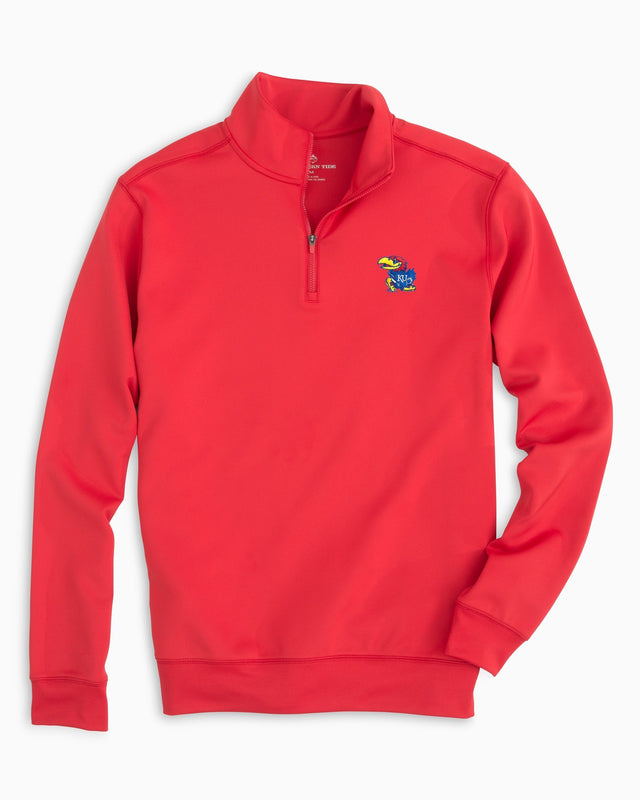Gameday Performance 1/4 Zip Pullover - University of Kansas | Southern Tide