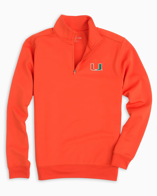 Gameday Performance 1/4 Zip Pullover - University of Miami | Southern Tide
