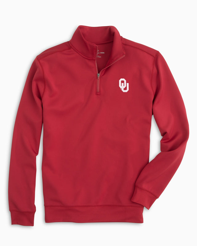 Gameday Performance 1/4 Zip Pullover - University of Oklahoma | Southern Tide