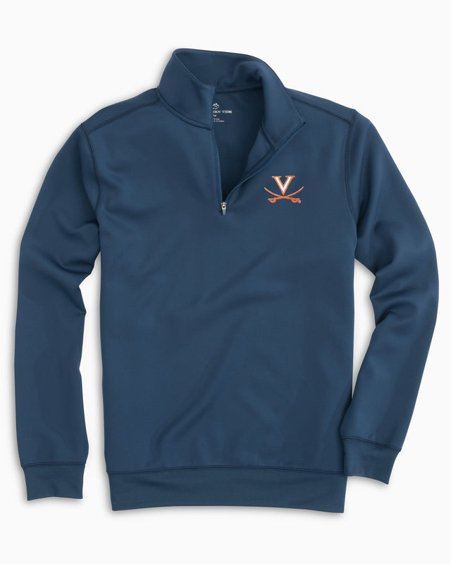Gameday Performance 1/4 Zip Pullover - University of Virginia | Southern Tide