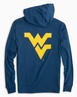 Gameday Skipjack Hoodie T-shirt - West Virginia University | Southern Tide