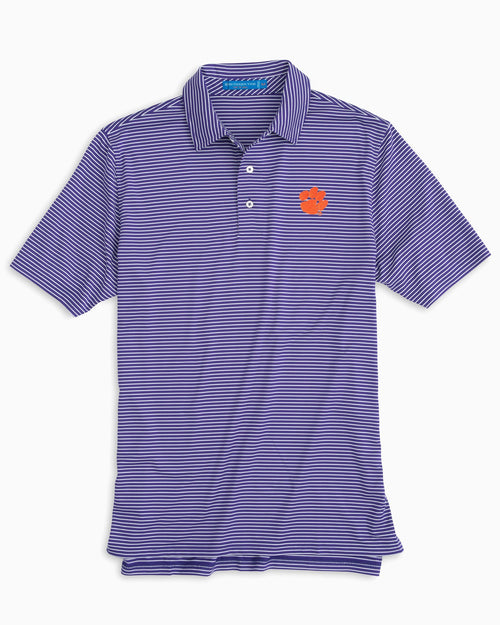 Clemson Tigers Striped Polo Shirt | Southern Tide