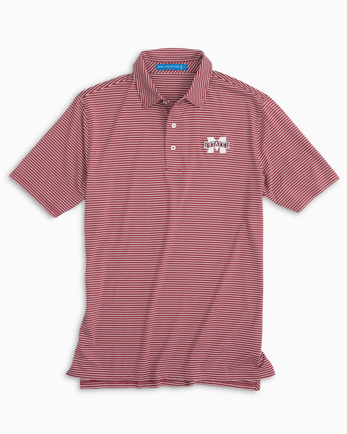 Mississippi State Striped Polo Shirt | Southern Tide
