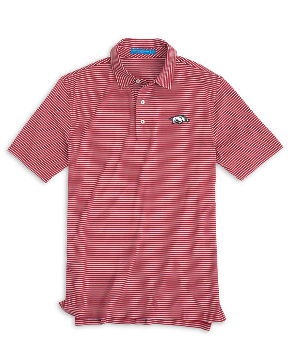 Arkansas Razorbacks Striped Polo Shirt