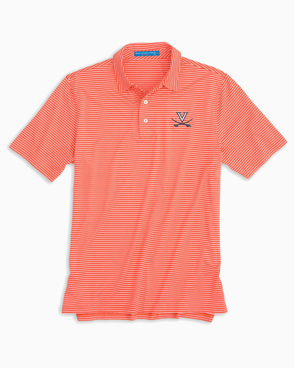 UVA Cavaliers Striped Polo Shirt