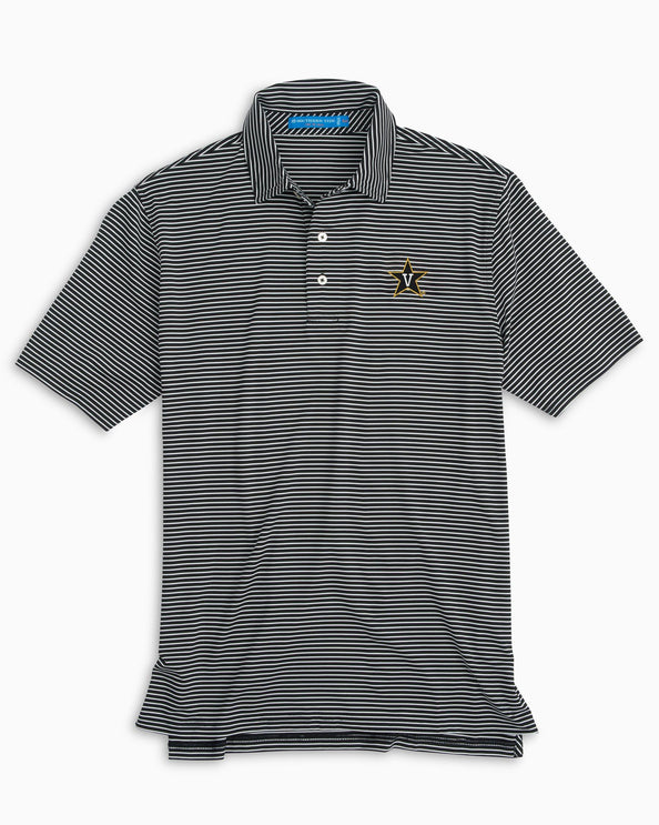 Vanderbilt Striped Polo Shirt