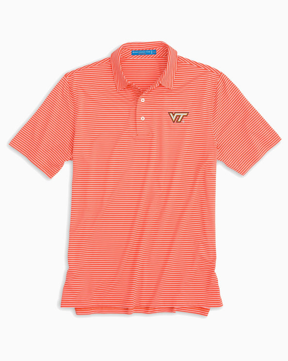 Virginia Tech Hokies Striped Polo Shirt