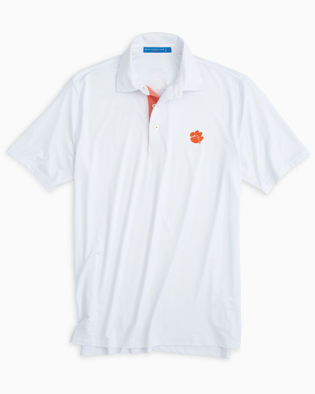 Clemson Tigers Plaid Placket Polo Shirt | Southern Tide