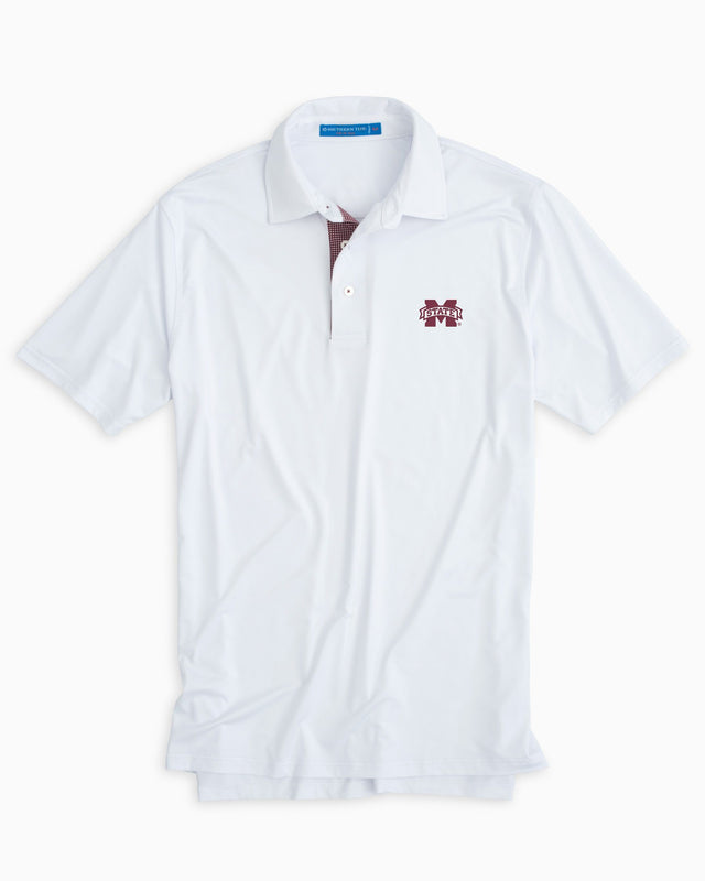 Gameday Tattersall Placket Performance Polo - Mississippi State University | Southern Tide