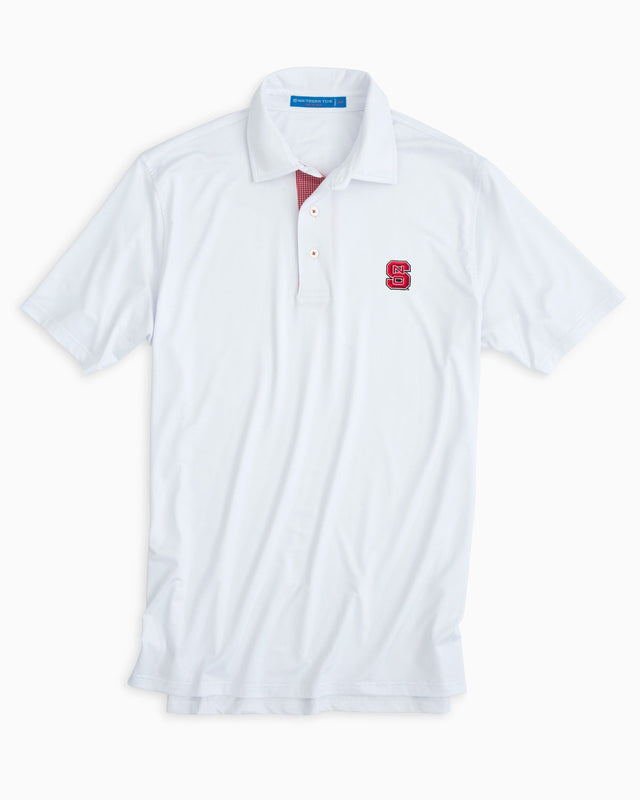 Gameday Tattersall Placket Performance Polo - North Carolina State University | Southern Tide