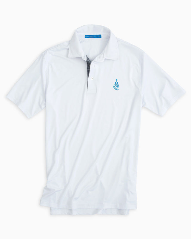Gameday Tattersall Placket Polo - The Citadel | Southern Tide