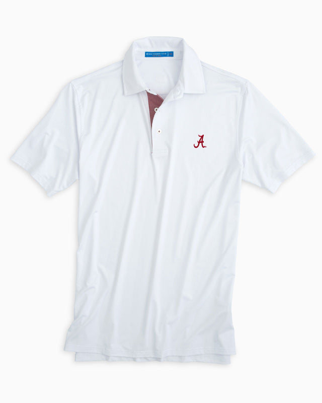 Alabama Crimson Tide Plaid Placket Polo Shirt | Southern Tide