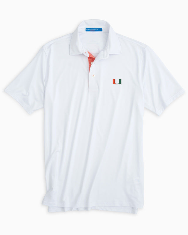 Gameday Tattersall Placket Polo - University of Miami | Southern Tide