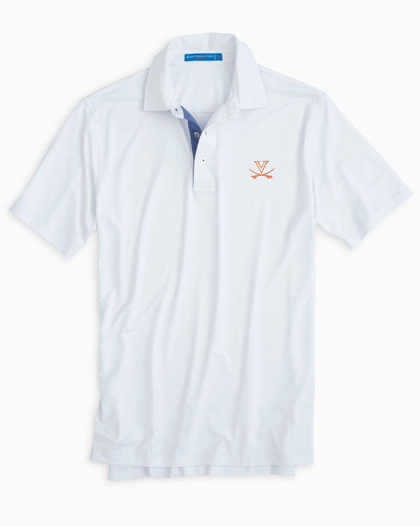 UVA Cavaliers Plaid Placket Polo Shirt