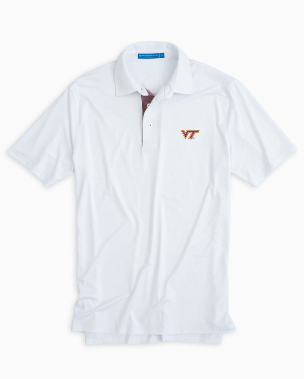 Virginia Tech Hokies Plaid Placket Polo Shirt