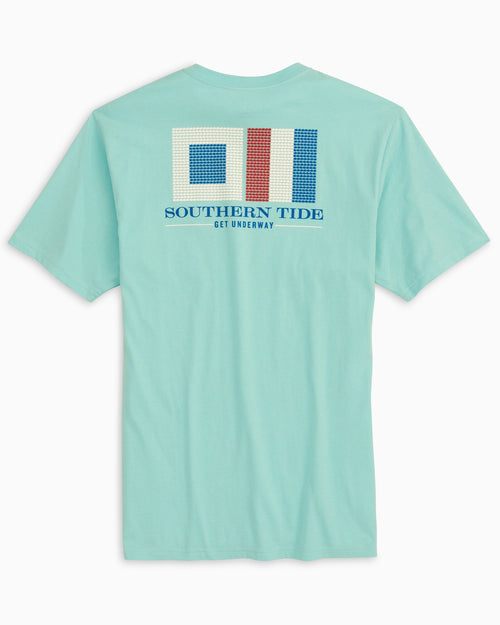 The back of the Men's Southern Tide Get Underway T-Shirt by Southern Tide