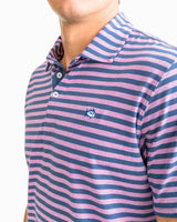 Heathered Channel Marker Stripe Polo | Southern Tide