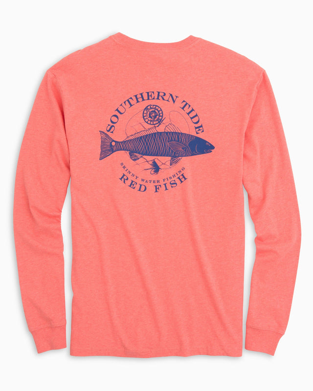 Fish Series Red Fish Long Sleeve Heathered T-Shirt | Southern Tide