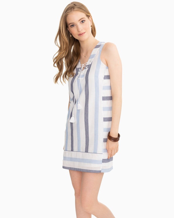 dd9a8cc957f Kaylee Nautical Striped Sleeveless Shift Dress hover