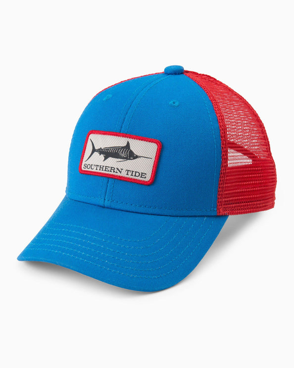 Kids Fish Series Blue Marlin Patch Trucker Hat