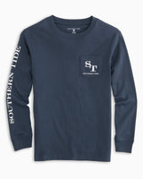 Kids Outline Skipjack Long Sleeve T-shirt | Southern Tide