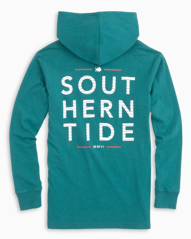 Kids Southern Wave Long Sleeve Hoodie T-shirt | Southern Tide
