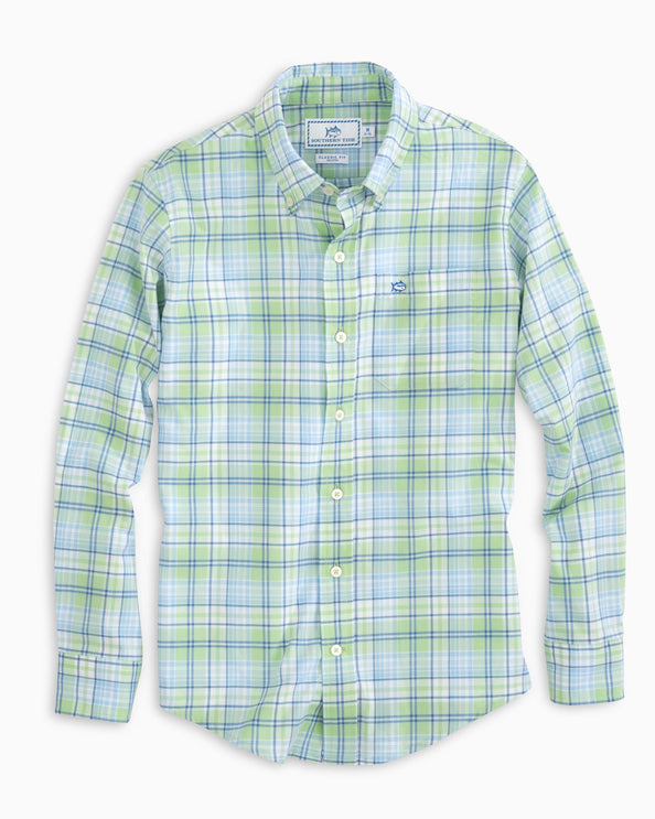 Image of Boys Surfscoter Plaid Sport Shirt