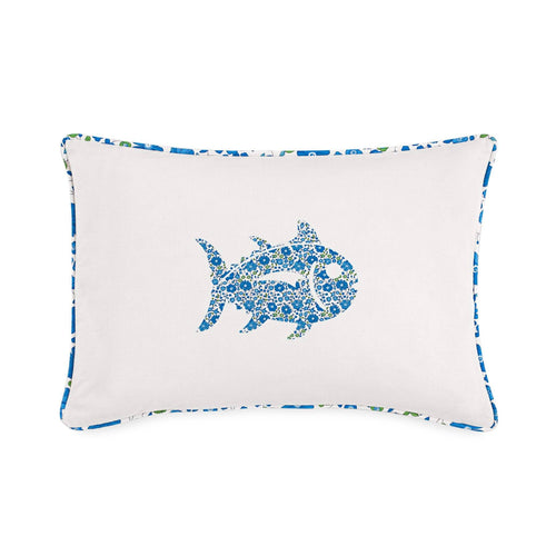 Laurel Falls Skipjack White Decorative Pillow | Southern Tide