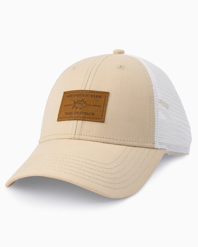 Leather Patch Oxford Trucker Hat | Southern Tide